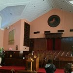 The interior of Ebenezer original church.