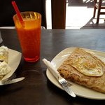 Sweet and salty crepes! Delicious!