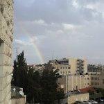 Радуга в Иерусалиме! Вид с моего балкона!