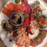 Seafood platter with crayfish, excellent