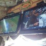 Plenty of TVs for fans of all teams!  GO HAWKS!!