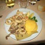 frittata de mariscos y polenta