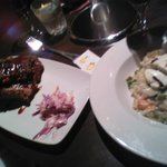 ribs and risotto  starters