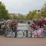 Amsterdam is: Canals, flowers, bicycles