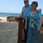 The beach is so close!
