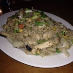 Chicken fried rice. Very delish!