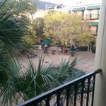 From the balcony outside our room