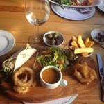 Lunchtime Fish Platter - highly recommended
