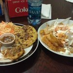 Pupusas and Fried Yucca