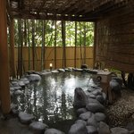 Outdoor part of one of the 2 onsen.