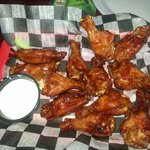 Try the wings - any flavor. These were were the honey barbecue. Monday is wing day!