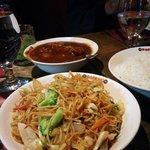 Manchurian and veg Hakka noodles