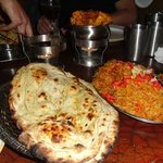 Naan bread and rice