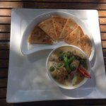 Green curry with Rosti- yummy!!