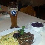 Hirsch gulasch with spätzle