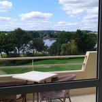 Terrasse et vue de notre chambre
