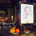 ho chi minh benerated still in temple