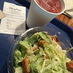 Chicken BLT salad and Wildberry Lemonade