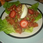 Moroccon salad complete with strawberries... Very nice
