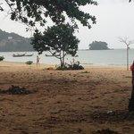 The beach a few minutes away