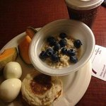 Example of the free breakfast selections