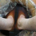 Foot soaking prior to massage
