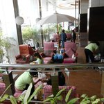 Massage corner ,with Thai traditional style ,Foot massage