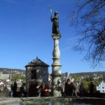 The lovely fountain with potable water at Lindenhof