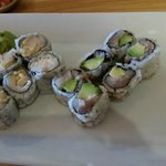 Spicy White Tuna and Yellowtail Avocado Rolls