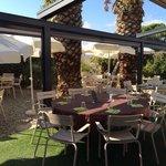Nouveau jardin du restaurant