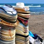 On the beach in Playa Chachalacas, Veracruz, Mexico