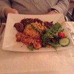 mixed kebab chicken, lamb and kofta