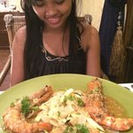 Wow great prawns she was amazed