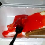 Cheese cake with strawberry topping