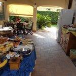 Terrasse du petit-déjeuner