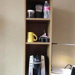 In room coffee and water