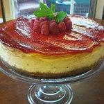 NY style Raspberry Cheesecake