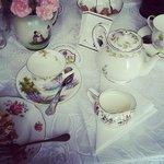 Beautiful table set for tea