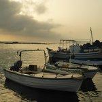 The Flisvos harbour at dawn