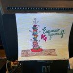 Employee's art on the register
