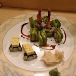 Awsome Dragon roll and Tamago nigiri