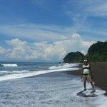 Beautiful black beach