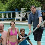 Family in the Blue Hole Pool