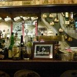 The bar at Le Bistro Bon Vivant