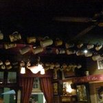 Hundreds of jugs kanging from the ceiling