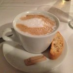 Cappucino with biscotti