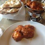 Naan and Chicken Vindaloo