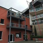 View of our Two Bedroom Loft Apartment from courtyard