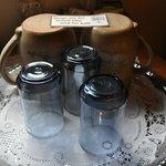 Cool glasses and really nice pottery mugs