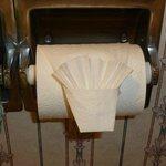 Fancy toilet paper end.
